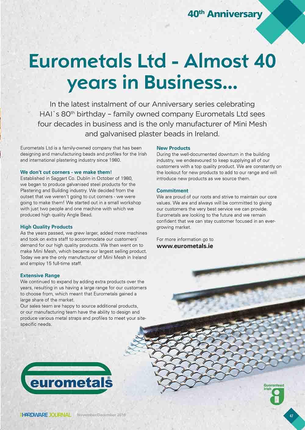 eurometals magazine editorial image